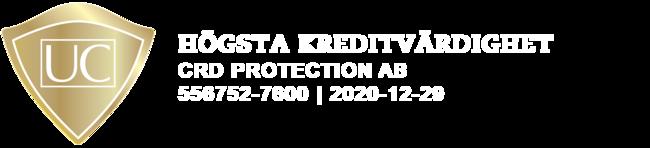 UC - Högsta kreditvärdighet - CRD Protection AB